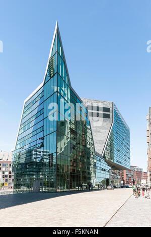 Moderne Architektur, Westerdok, Amsterdam, Niederlande Stockbild