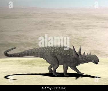 Sauropelta Dinosaurier / Sauropelta Dinosaurier Stockbild