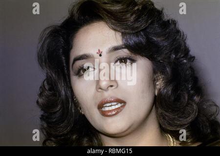 Nahaufnahme von Madhuri Dixit, Indien, Asien Stockbild
