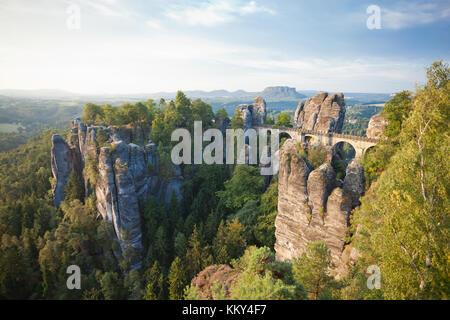 Dresden - Deutschland - Sandstein Berge, Europa Stockbild