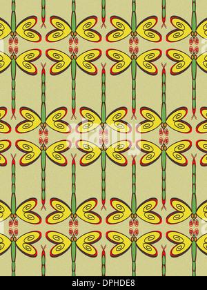 Ein Muster der Libellen Stockbild