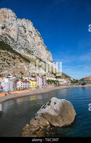 Gibraltar, Catalan Bay Stockbild