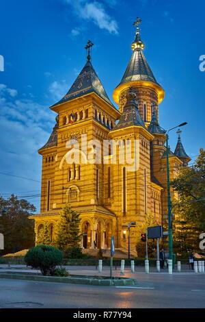 Orthodoxe Kathedrale, Siegesplatz, Timisoara, Rumänien Stockbild