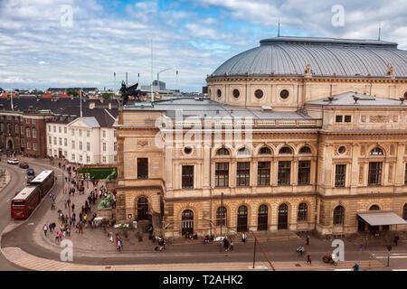 Königlich Dänisches Theater in Kopenhagen. Kopenhagen, Dänemark. Stockbild