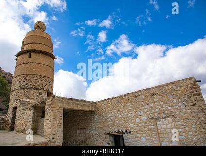 Die osmanischen Qantara Moschee auch als al-Madhoun Moschee bekannt, Mekka Provinz, Taïf, Saudi-Arabien Stockbild