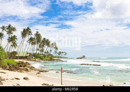 Koggala Beach, Sri Lanka, Asien - einen weiten Blick über die Bucht von Koggala Beach Stockbild