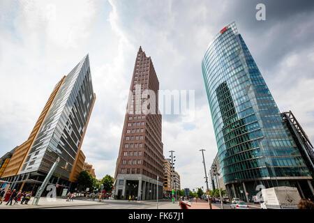 Gebäude am Potsdamer Platz, Mitte, Berlin, Deutschland, Europa Stockbild