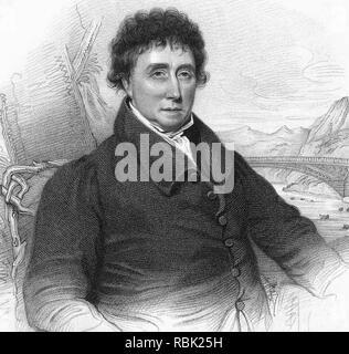 THOMAS TELFORD (1757-1834) Schottischer Bauingenieur, vor allem Straßen und Brücken Stockbild