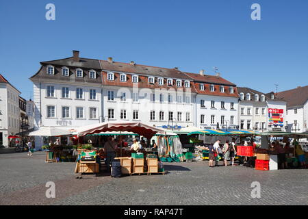 St. Johanner Markt, Saarbrücken, Saarland, Deutschland Stockbild
