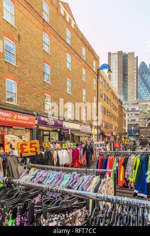 Petticoat Lane Market, London, England, Vereinigtes Königreich, Europa Stockbild