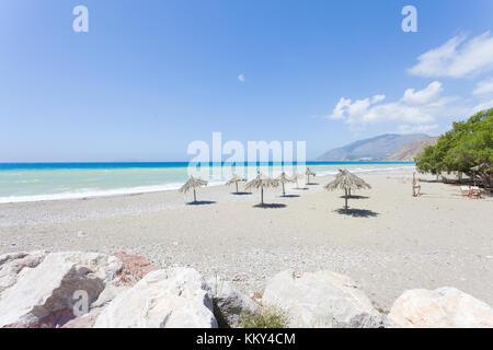 Kreta - Griechenland - Entspannen im Kokkinos, Europa Stockbild