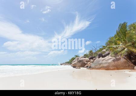 Anse Lazio - Praslin - Seychellen - Afrika Stockbild