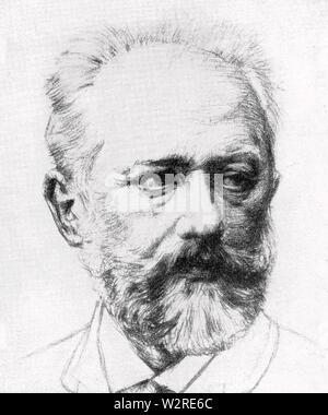 PYOTR TCHAIKOVSKY (1840-1893), russischer Komponist Stockbild