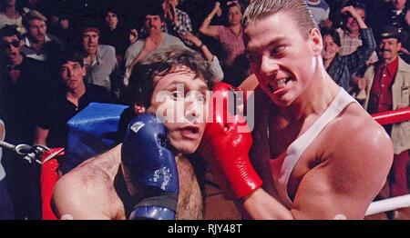 NO RETREAT, NO SURRENDER 1986 Neue Welt Bilder Film mit Jean-Claude Van Damme rechts und Ron Pohnel Stockbild