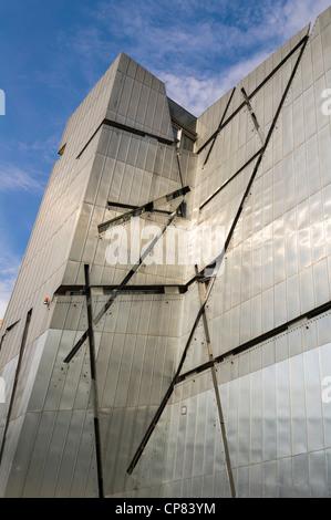 Fassade des jüdischen Museums in Berlin, Deutschland Stockbild