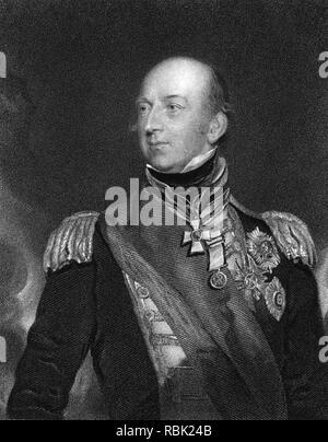 EDWARD CODRINGTON (1770-1851), britischer Admiral Stockbild