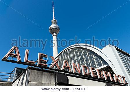 Bahnhof Alexanderplatz, Berlin, Deutschland Stockbild