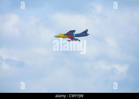 Miss Demeanour Hawker Hunter Mk58A auf der Luftfahrtmesse in Bournemouth Stockbild