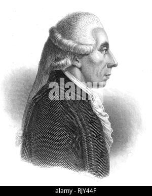 JEAN SYLVAIN BAILLY (1736-1793) Französischer Astronom und Mathematiker Stockbild