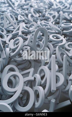Zufällige Reihe von Nummern Hintergrund illustration Stockbild