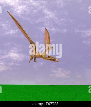 Dinosaurier Quetzalcoatlus / Dinosaurier Quetzalcoatlus Stockbild