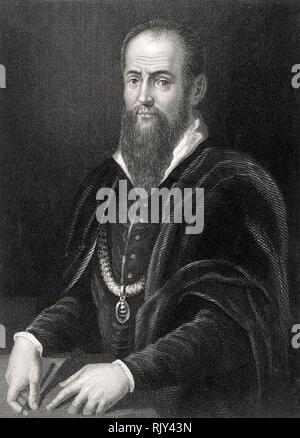 GIORGIO Vasari (1511-1574), italienischer Maler und Historiker Stockbild