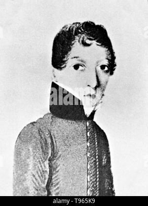 Steuart James Miranda Barry (1790s - Juli 25, 1865, geboren Margaret Ann Bulkley) war ein irischer militärischen Chirurg in der Britischen Armee. Barry erhalten einen medizinischen Grad von der Universität von Edinburgh Medical School, dann zuerst in Kapstadt, Südafrika serviert und in der Folge in vielen Teilen des Britischen Empire. Vor der Versetzung in den Ruhestand, Barry hatte in den Rang eines Inspektors für militärische Krankenhäuser gestiegen, die zweite höchste medizinische Büro in der Britischen Armee. Stockbild
