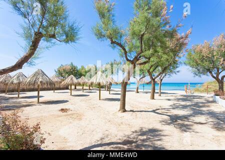 Spiaggia Terme, Apulien, Italien - Besuch der schönen Strand von Spiaggia Terme Stockbild