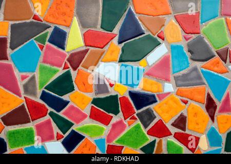 Detail einer bunten Glas Mosaik. Stockbild