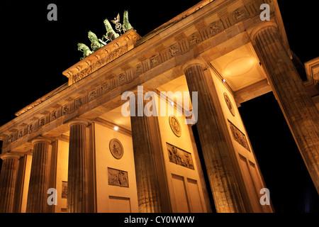 Brandenburger Tor Berlin Deutschland Brandenburg Bogen Berlin Deutschland Stockbild