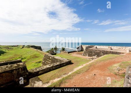Sri Lanka, Asien, Galle - Besuch der mittelalterlichen Stadtmauer von Galle Stockbild
