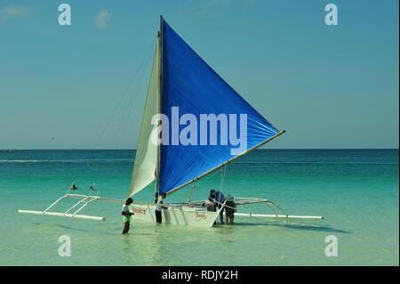 White Beach, Boracay, Philippinen Stockbild