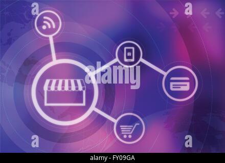 Anschauliches Bild für Online-shopping Stockbild