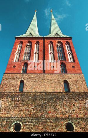 Kirche St. Nikolaus in Deutschland Berlin Stockbild