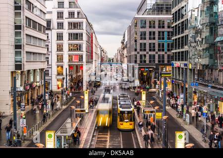 Friedrichstraße-Straße in Berlin, Deutschland. Stockbild