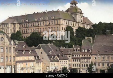 Markt (Weißenfels), Schloss Neu-Augustusburg, 1912, Sachsen-Anhalt, Weißenfels, Marktplatz und Schloß, Deutschland Stockbild