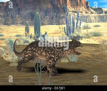 Dinosaurier Einiosaurus / Einiosaurus Dinosaurier Stockbild