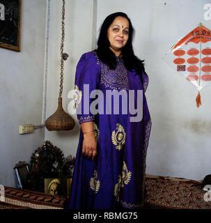 Portrait von Rohini Hattangadi, Indien, Asien Stockbild