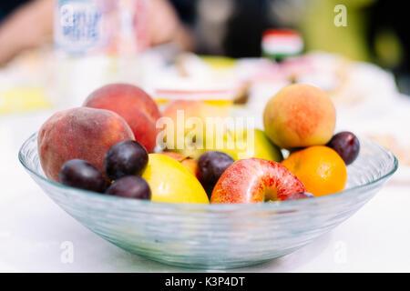 Gesund im Herbst Früchte Stockbild