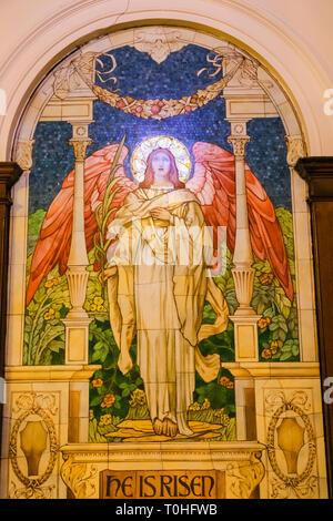 England, London, Southwark, London Bridge City, Kerle, Kerle Krankenhaus Kapelle, Mosaik, Jesus Christus auferstanden von den Toten Stockbild