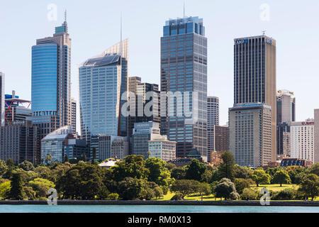 Blick auf die Skyline von Sydney. Stockbild