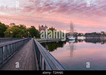 Admiralty Haus auf der Insel Skeppsholmen in Stockholm. Und Sodermanland Stockholm, Uppland, Schweden. Stockbild
