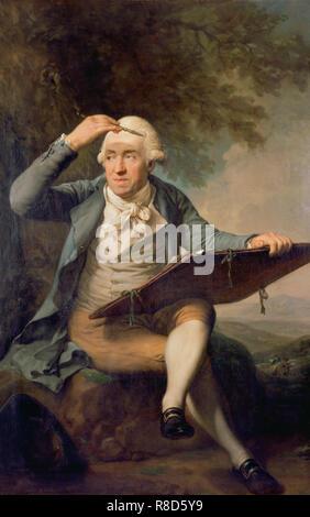 Portrait von Adrian Zingg (1734-1816), 1797-1799. In der Sammlung des Kunstmuseum St. Gallen gefunden. Stockbild