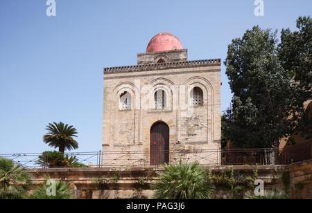 San Cataldo Kirche, Palermo, Sizilien, Italien, Europa I San Cataldo Kirche, Palermo, Sizilien, Italien, Europa Stockbild