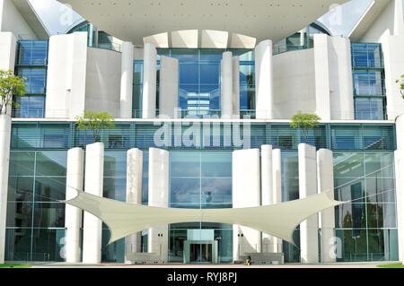 Detail des Gebäudes der Bundeskanzler in der deutschen Hauptstadt Berlin Stockbild