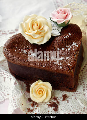 feuchter Schokoladenkuchen Stockbild