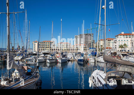 Gibraltar, Queensway Quay marina Stockbild