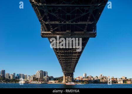 Die Sydney Harbour Bridge. Stockbild