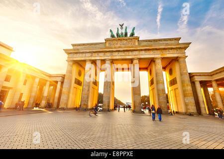 Brandenburger Tor bei Sonnenuntergang Stockbild