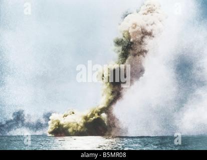 9 1916 5 31 A1 16 B Naval Skagerrakschlacht 1916 Foto ersten Weltkrieg 1914-18 Seeschlacht von Jütland 31 5 Stockbild